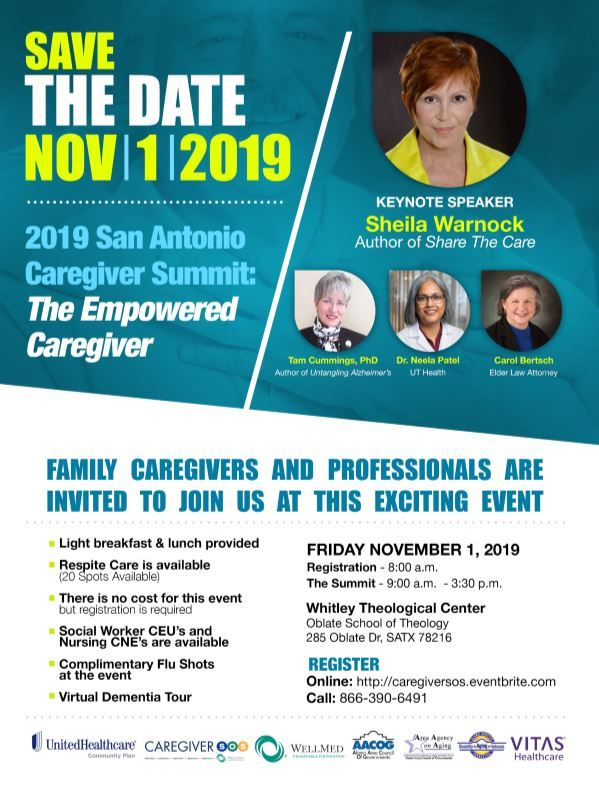 Save The DATE CAREGIVER SUMMIT